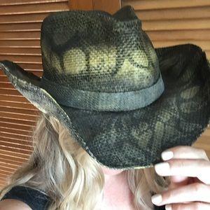 Peter Grimm snakeskin Cowboy hat